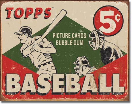 TOPPS 1955 Baseball Box Tin Sign | Man Cave Authority | 1643