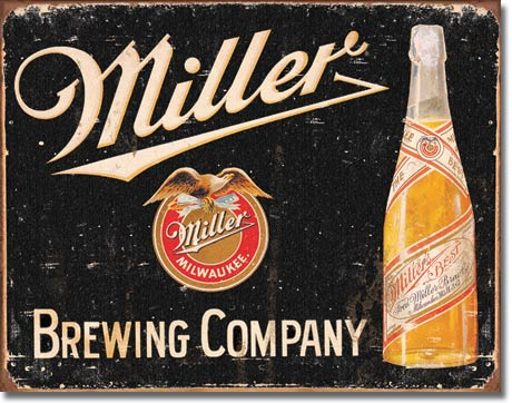 Miller Brewing Vintage Tin Sign | Man Cave Authority | 1649