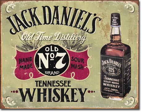 Jack Daniels Hand Made Tin Sign | Man Cave Authority | 1666