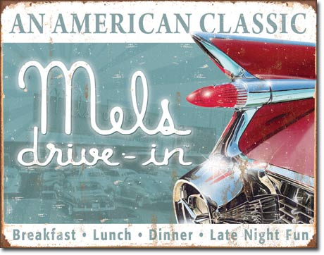 Mels Diner Classic Tin Sign | Man Cave Authority | 1677