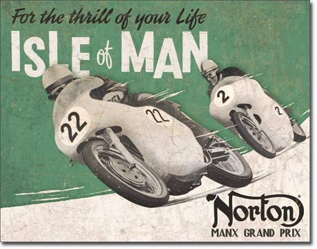 Isle of Man Tin Sign | Man Cave Authority | 1704