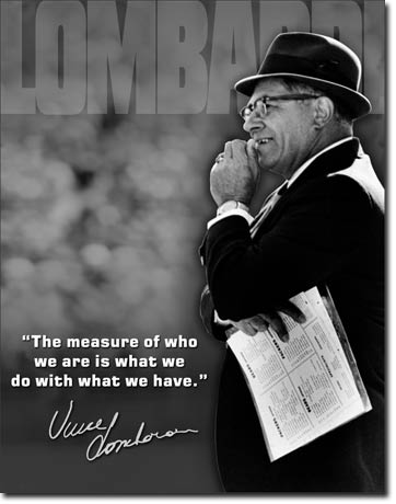 Lombardi Measure of Who We Are Tin Sign | Man Cave Authority | 1726