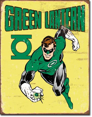 Green Lantern Retro Tin Sign | Man Cave Authority | 1735