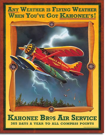 Kahonee Air Service Tin Sign | Man Cave Authority | 1759