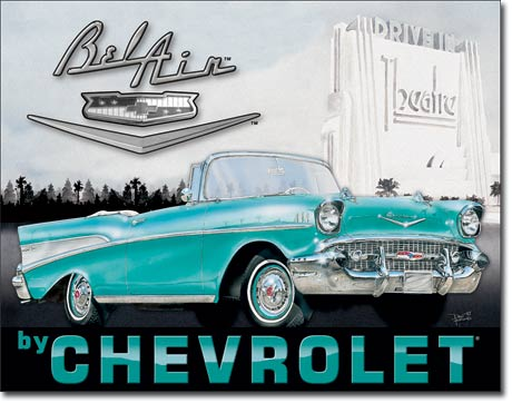 1957 Chevy Bel Air Tin Sign | Man Cave Authority | 1760