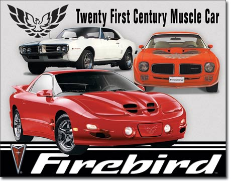 Pontiac Firebird Tribute Tin Sign | Man Cave Authority | 1770