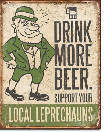 Drink More Beer Tin Sign | Man Cave Authority | 1827