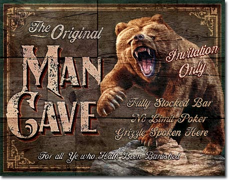 The Original Man Cave Tin Sign | Man Cave Authority | 1925