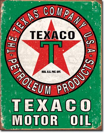Texaco Oil Weathered Tin Sign | Man Cave Authority | 1927