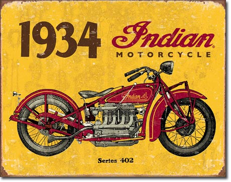 1934 Indian Tin Sign | Man Cave Authority | 1929