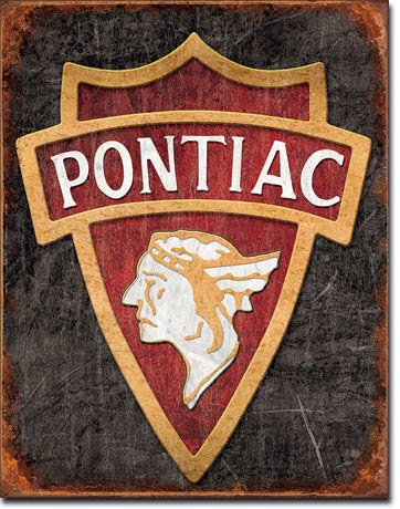 1930 Pontiac Logo Tin Sign | Man Cave Authority | 1940