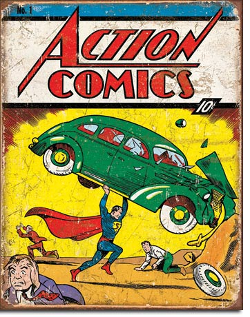 Action Comics No. 1 Cover Tin Sign | Man Cave Authority | 1965