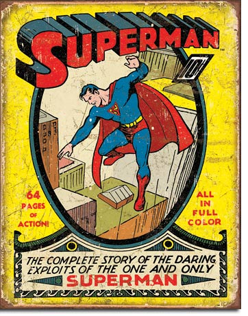 Superman No. 1 Cover Tin Sign | Man Cave Authority | 1968