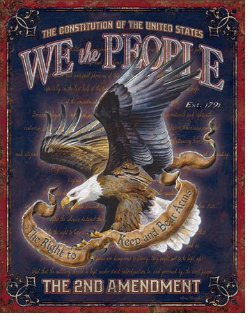We The People 2nd Amendment Tin Sign | Man Cave Authority | 1992