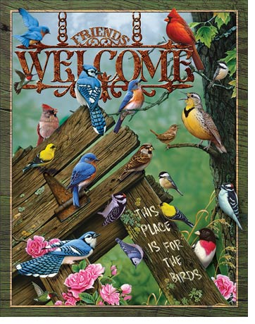 Welcome This Place is for the Birds Tin Sign | Man Cave Authority | 2002