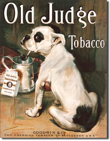Old Judge Tobacco Tin Sign | Man Cave Authority | 379