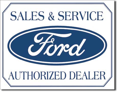 Ford Authorized Dealer Logo Tin Sign | Man Cave Authority | 580