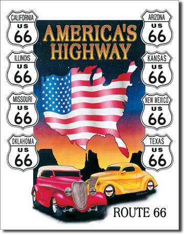 America's Highway Tin Sign | Man Cave Authority | 605
