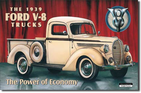 Ford Pickup 1939 Tin Sign | Man Cave Authority | 707