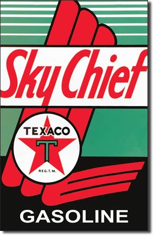 Texaco Sky Chief Tin Sign | Man Cave Authority | 805