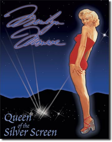 "Marilyn ""Queen of Screen"" Tin Sign 