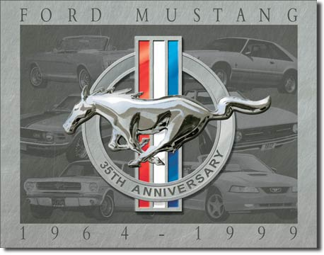 Mustang 35th Anniversary Tin Sign | Man Cave Authority | 902
