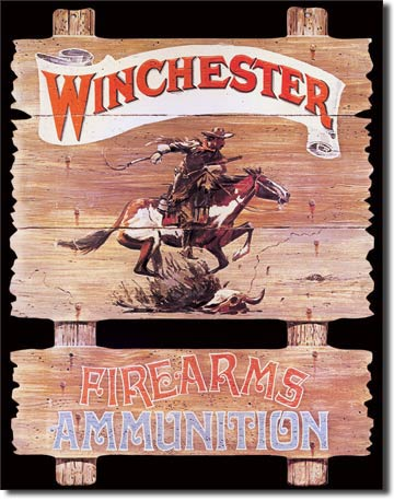 Winchester Express Rider Tin Sign | Man Cave Authority | 939
