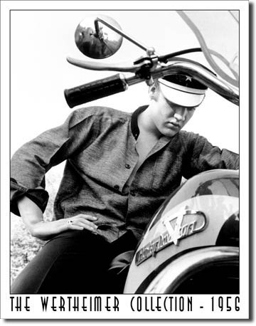 Wertheimer Elvis on Bike Tin Sign | Man Cave Authority | 948