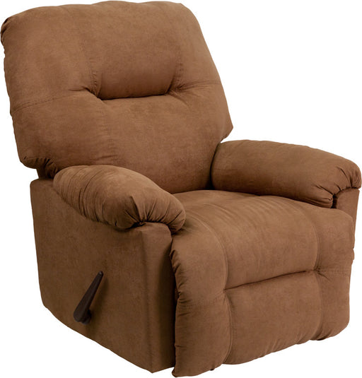 Kendrick Contemporary Microfiber Chaise Rocker Recliner (CAM, CHC) | Man Cave Authority | AM-C9350-2600-GG