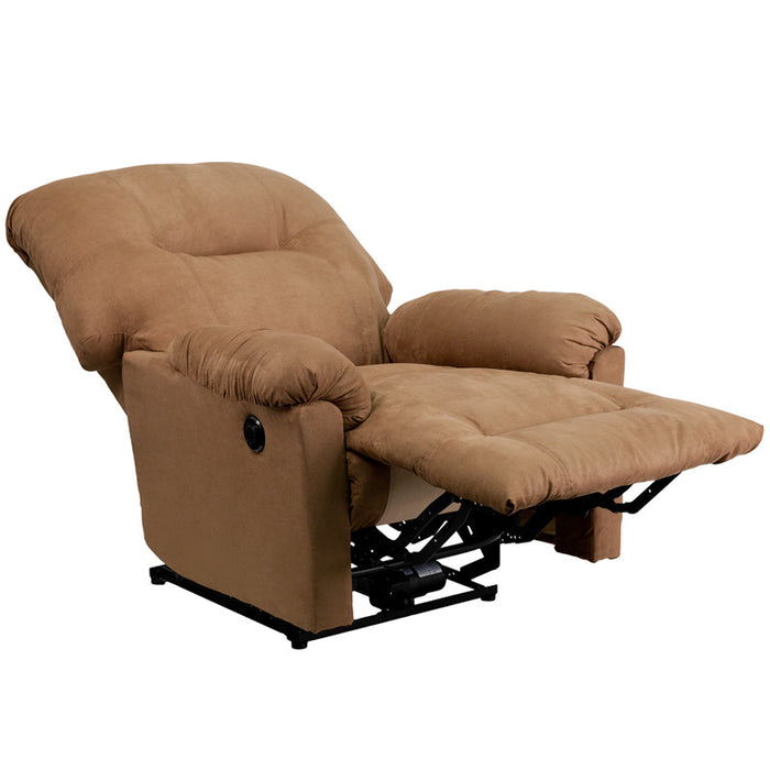 Kendrick Contemporary Microfiber Power Chaise Recliner (CAM, CHC) | Man Cave Authority | AM-CP9350-2600-GG