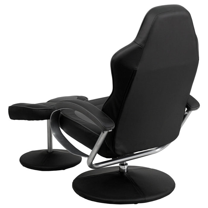 Black and Grey Racing Chair with Tension Control Recline | Man Cave Authority | CH-125695-GG