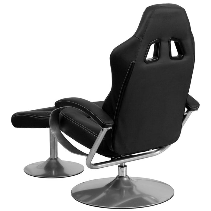 Black Racing Chair with Tension Control Recline | Man Cave Authority | CH-125695A-2-GG
