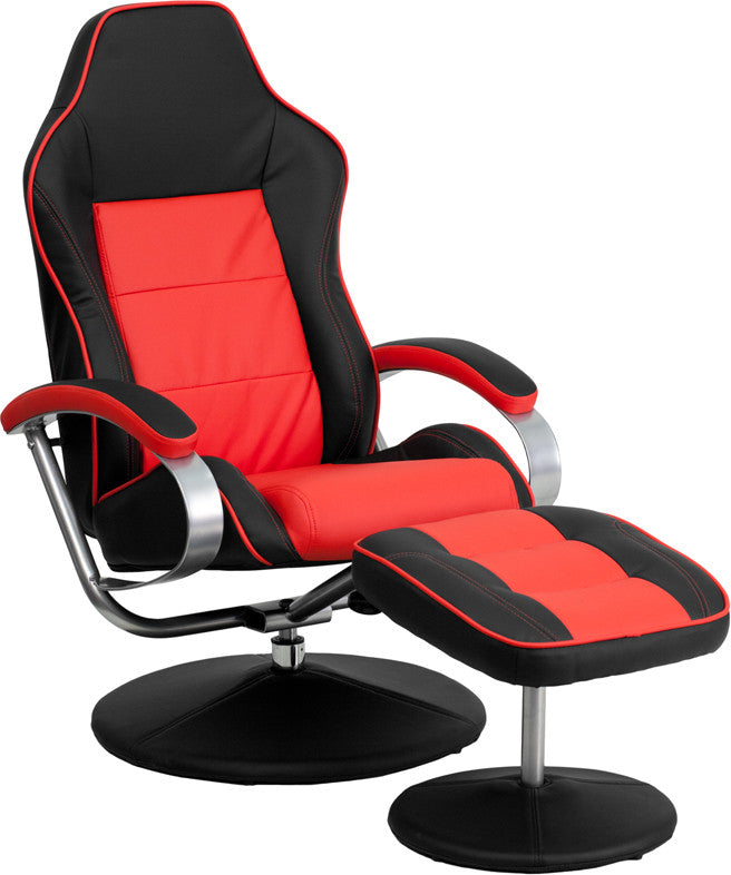 Black Amp Red Racing Chair W Tension Control Recline Ch