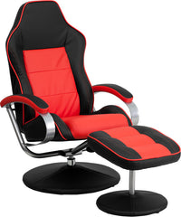 Black and Red Racing Chair with Tension Control Recline | Man Cave Authority | CH-125696-1-GG