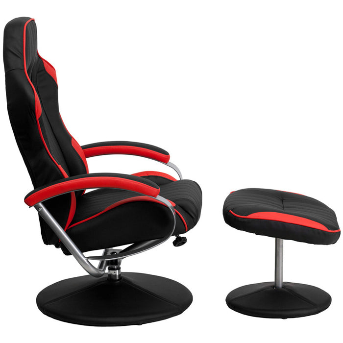 Red and Black Racing Chair with Tension Control Recline | Man Cave Authority | CH-125696-3-GG