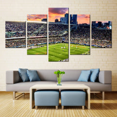 5 Panel Chicago Bears Soldier Field Canvas Wall Print
