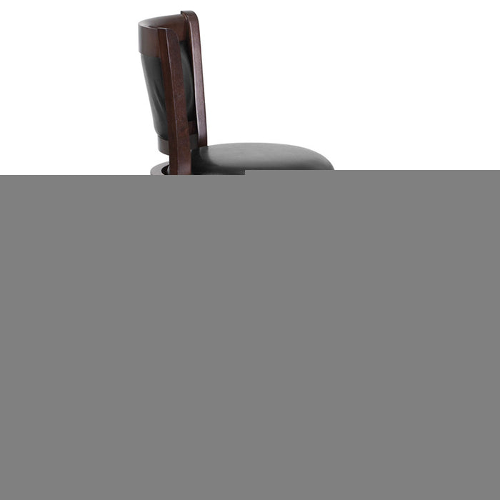 Ashton Swivel Bar Stool with Cushioned Leather Seat and Cappuchino Finish | Man Cave Authority | TA-61029-CA-GG