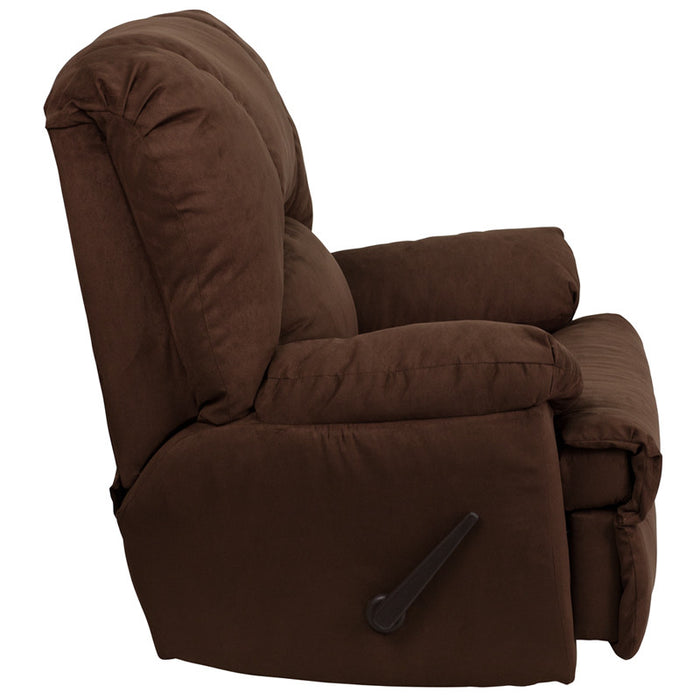 Montana Contemporary Microfiber Suede Rocker Recliner (CHC, GRNT, LTE, LDN) | Man Cave Authority | WM-8500-263-GG