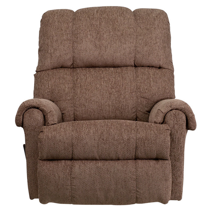 Tahoe Contemporary Bark Chenille Rocker Recliner (BARK, BURG) | Man Cave Authority | WM-8700-210-GG