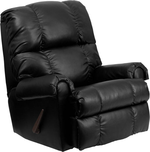Apache Leather Rocker Recliner with Handle Recline (BLK, BRN) | Man Cave Authority | WM-8700-371-GG