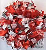 Load image into Gallery viewer, Valentine Wreath Be My Valentine Wreath Sweetheart's Day Valentine's Day Decor My little Valentine Door Decor Wreath