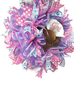 Load image into Gallery viewer, Baby Shower Wreath, Gender Reveal Wreath