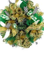Load image into Gallery viewer, St Patty's Day Wreath, St Patrick's Day Decor, Celtic Wreath, Irish Decor, Lucky Clover Wreath, Spring Decor, Front Door Wreath, Lucky Decor