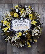 Load image into Gallery viewer, Welcome Wreath, Welcome Bee Wreath, Summer, Door Decor