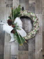 Load image into Gallery viewer, Christmas Wreath,  Rustic Xmas Wreath