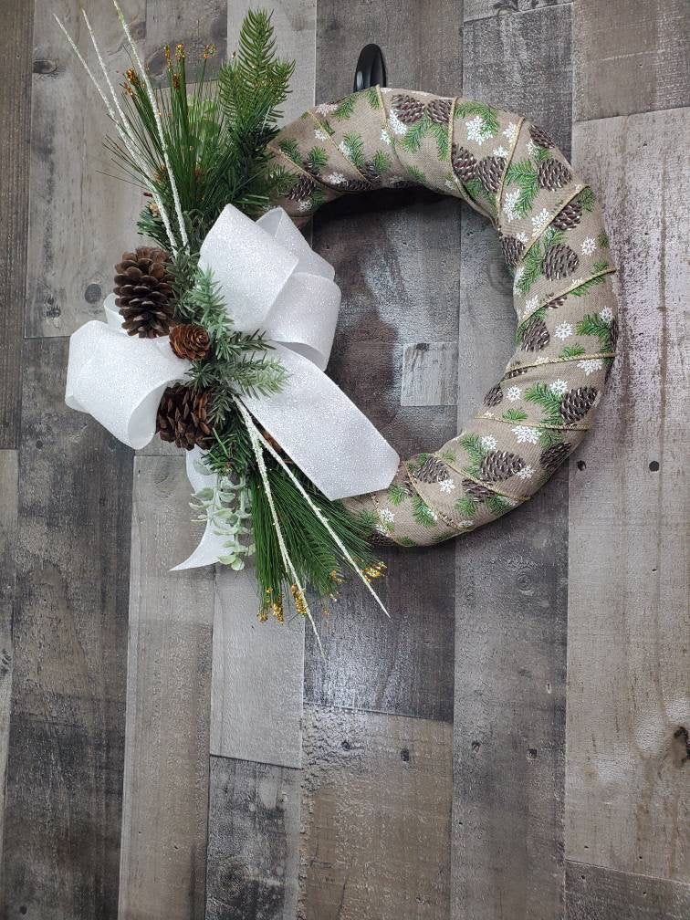 Christmas Wreath,  Rustic Xmas Wreath
