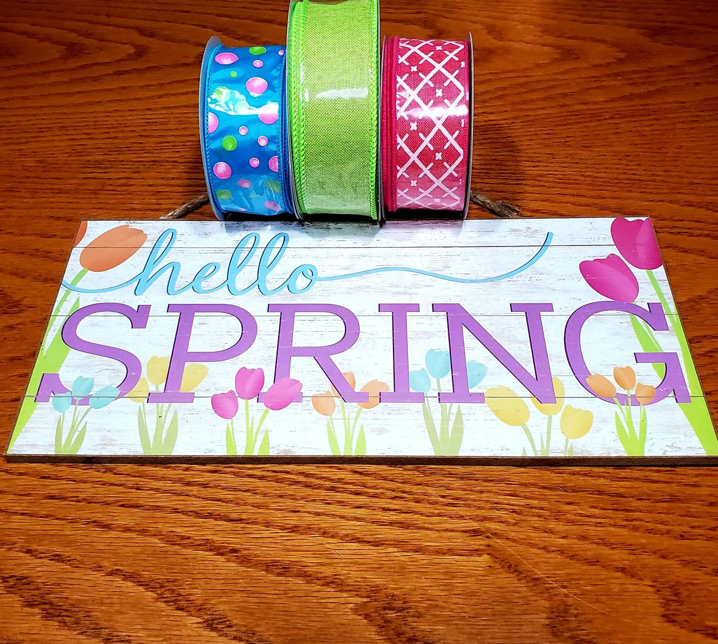 Hello Spring Wreath Kit, Wreath Supplies