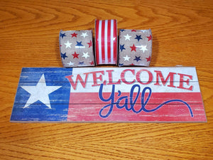 Welcome Y'all Wreath Kit, Patriotic Wreath