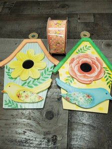 Birdhouse Wreath Kit, Floral Spring Wreath