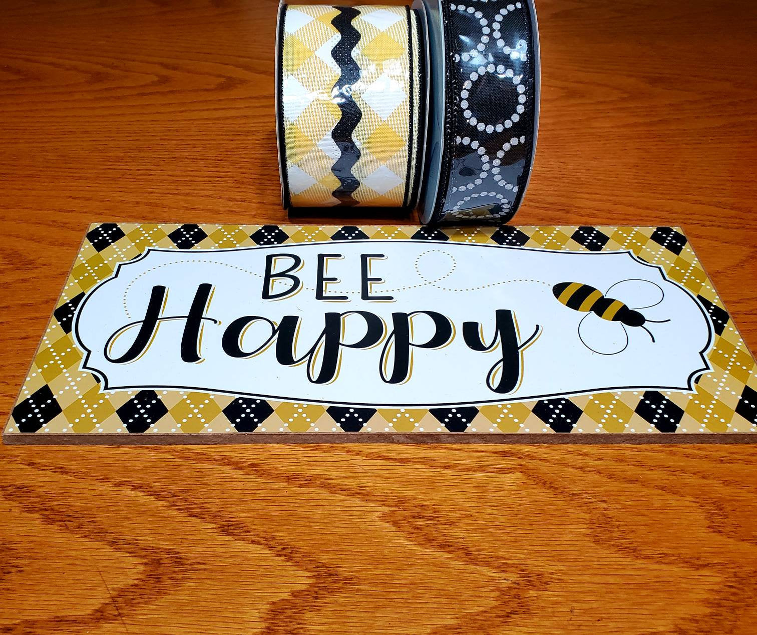 Bee Happy Wreath Kit, Bee Wreath, Summer